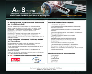 Website der Fa. Axel Smorra Neuss